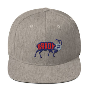 Tom Brady The GOAT (Navy) Snapback Hat - ATX HUMOR