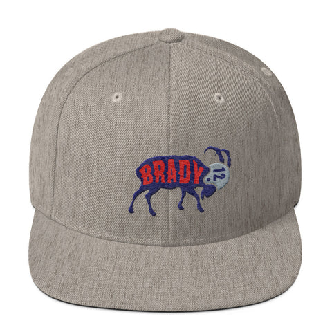 Tom Brady The GOAT (Navy) Snapback Hat