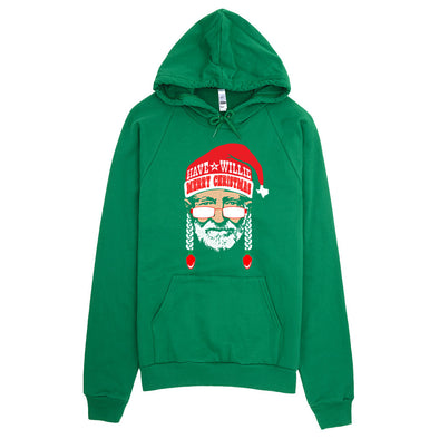 Have A Willie Merry Christmas - Willie Nelson Inspired - Hoodie - ATX HUMOR