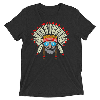 Have a Willie Nice Turkey Day - Willie Nelson Inspired - Thanksgiving Tri-Blend Unisex T-Shirt - ATX HUMOR