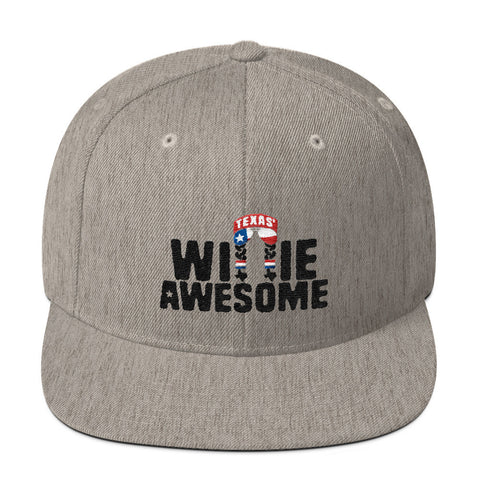 Willie Awesome Lone Star Snapback Hat - ATX HUMOR