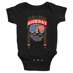 Have A Willie Nice Day America Baby Bodysuit - ATX HUMOR