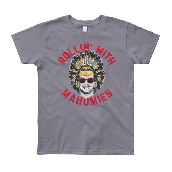 Rollin' With Mahomies - Patrick Mahomes Chiefs Inspired - Youth T-Shirt - ATX HUMOR
