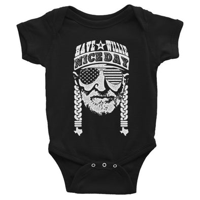 Have A Willie Nice Day (White Print) Baby Onesie - ATX HUMOR
