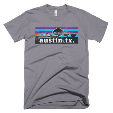 Austin Steer 360 Bridge Skyline Unisex T-shirt - ATX HUMOR