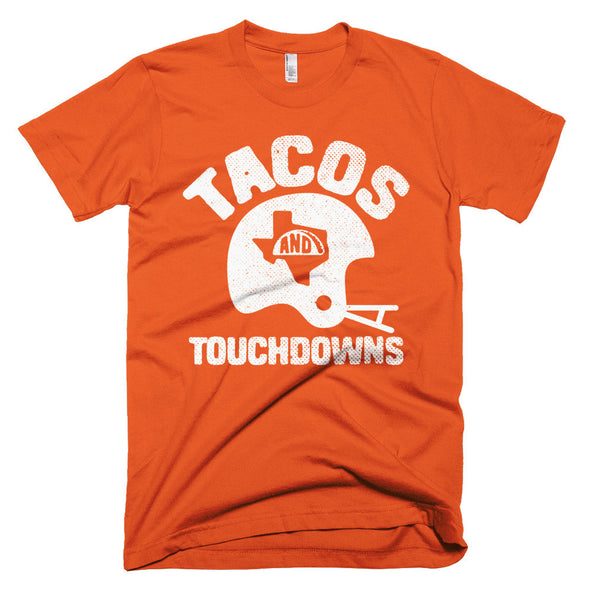 Tacos, Texas, and Touchdowns (White Print) Unisex T-Shirt - ATX HUMOR