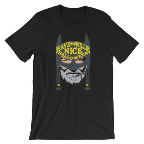 Have A Willie Halloween - Willie Nelson and Batman Inspired - Unisex T-Shirt - ATX HUMOR