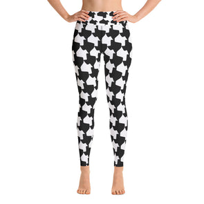 Texas Houndstooth - Yoga Pants - Workout Pants - Women's Leggings - ATX HUMOR