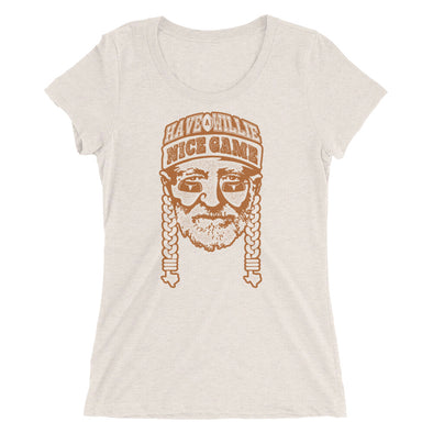 ... Womens T-Shirt. Have a Willie Nice Game - Willie Nelson   Texas  Longhorns Football Inspired - Tri- 03f71d4570