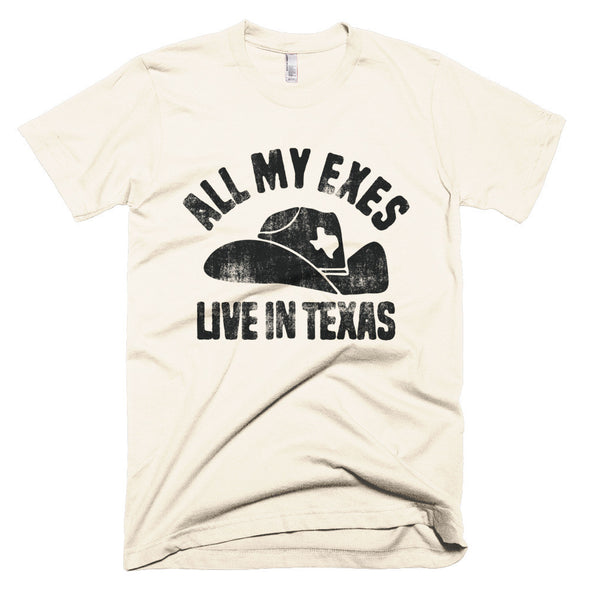 All My Exes Live In Texas Unisex T-Shirt - ATX HUMOR