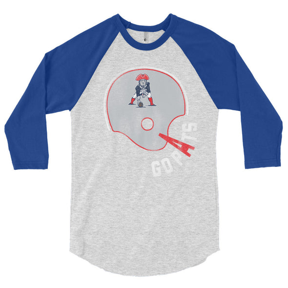 Go Pats New England Patriots Fan 3/4 Sleeve Raglan T-Shirt - ATX HUMOR