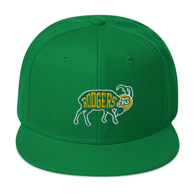 Aaron Rodgers The Other GOAT - Green Bay Packers Inspired - Snapback Hat - ATX HUMOR