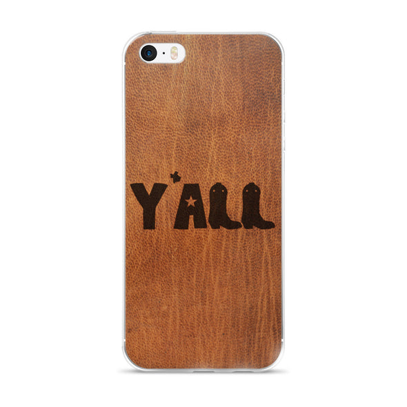 Y'all (Leather) iPhone Case - ATX HUMOR