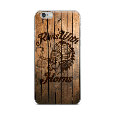 Chief Runs With Horns (Light Wood) iPhone Case - ATX HUMOR