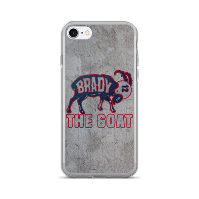 Tom Brady The GOAT (Navy Print) iPhone 7/7 Plus Case - ATX HUMOR