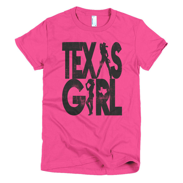 Texas Girl Womens T-Shirt - ATX HUMOR