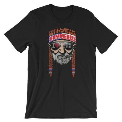 Let's Get Willie Hammered - Willie Nelson Inspired Unisex T-Shirt - ATX HUMOR