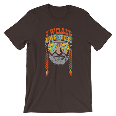 I Willie Love Tacos - Willie Nelson and Taco Lovers Inspired - Unisex T-Shirt - ATX HUMOR