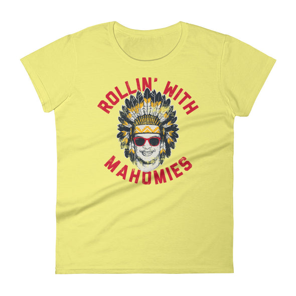 Rollin' With Mahomies - Patrick Mahomes Chiefs Inspired - Womens T-Shirt - ATX HUMOR