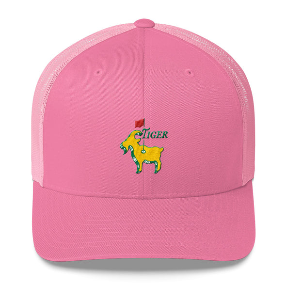 Tiger Woods Inspired - Good at Golf - The GOAT - Greatest Comeback - Masters Golf Trucker Snapback Cap - ATX HUMOR