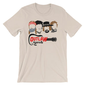 Texas Outlaw Legends - Willie, Johnny, Waylon, and Kris Inspired - Unisex T-Shirt - ATX HUMOR