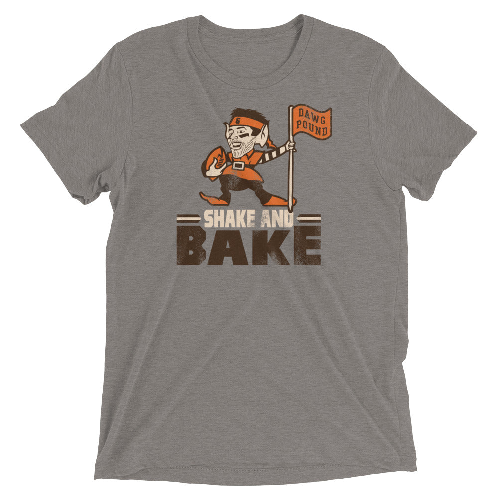 pretty nice 74260 f59c8 Shake and Bake - Baker Mayfield - Flag Plant - Cleveland Browns Inspired -  Unisex Tri-Blend T-Shirt