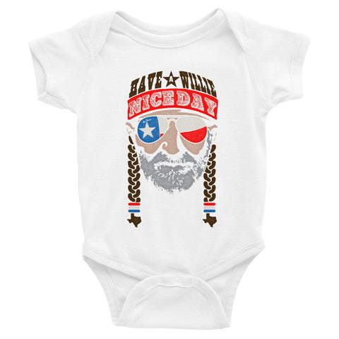 Have A Willie Nice Day (Color) Baby Onesie - ATX HUMOR