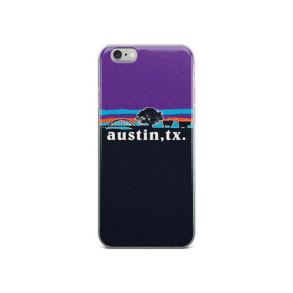 Austin Steer 360 Bridge Skyline iPhone Case - ATX HUMOR