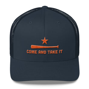 Houston Astros Inspired Come and Take It Navy Trucker Caps - ATX HUMOR