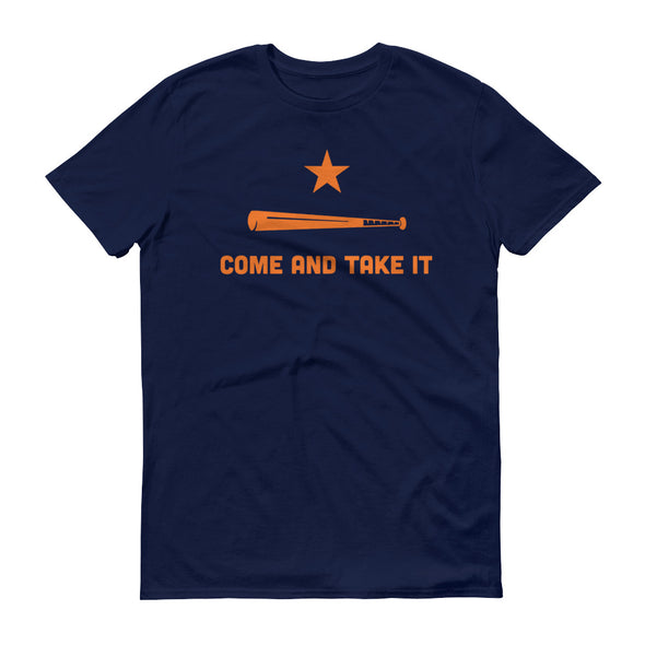 Houston Astros Inspired Come and Take It Navy Unisex T-Shirt - ATX HUMOR