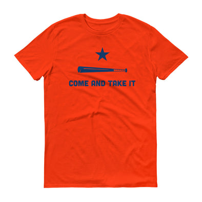 Houston Astros Inspired Come and Take It Orange Unisex T-Shirt - ATX HUMOR