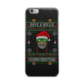 Have A Willie Merry Christmas Sweater - Willie Nelson Inspired - iPhone Case - ATX HUMOR
