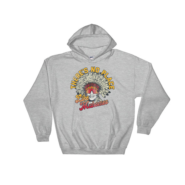 There's No Place Like Mahomes - Patrick Mahomes Kansas City Chiefs Inspired - Hooded Sweatshirt - ATX HUMOR