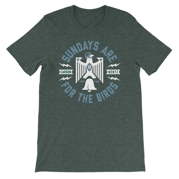 Carson Wentz Sundays Are For The Birds Philly Eagles Inspired Unisex T-Shirt - ATX HUMOR