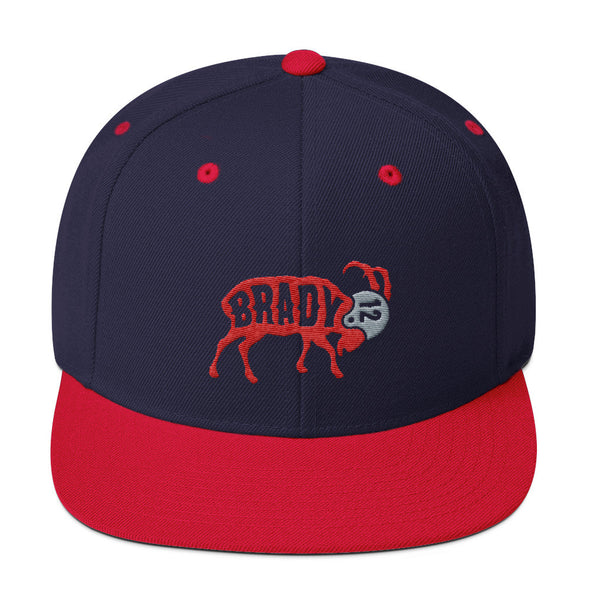Tom Brady The GOAT Snapback Hat - ATX HUMOR