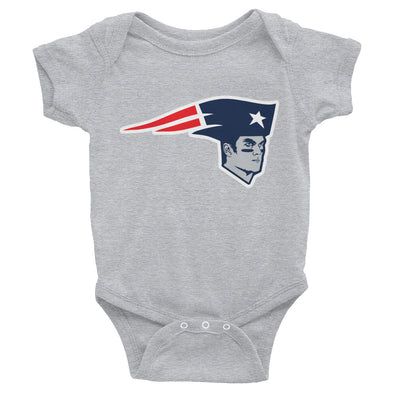 "Tom Brady New England Patriots Inspired  ""The Bratriot"" Baby Bodysuit - ATX HUMOR"