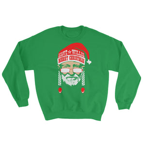 Have A Willie Merry Christmas - Willie Nelson Inspired Unisex Sweatshirt - ATX HUMOR