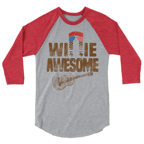 Willie Awesome USA 3/4 Sleeve Raglan Shirt