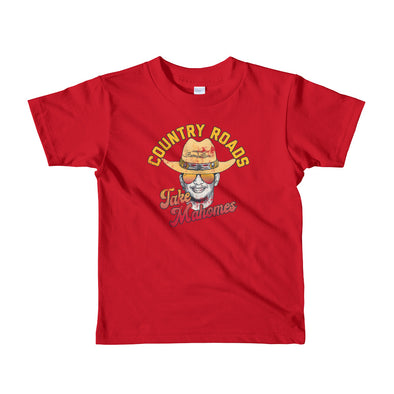 Country Roads Take Mahomes - Patrick Mahomes Kansas City Chiefs Inspired Kids T-Shirt - ATX HUMOR