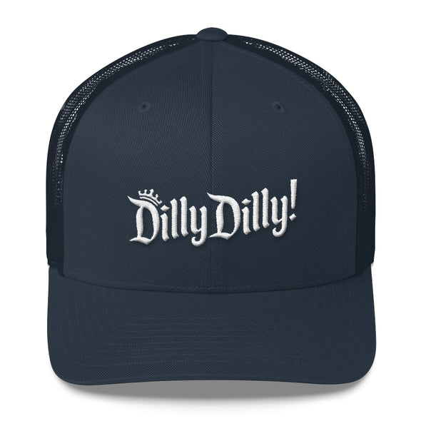 Dilly Dilly Crown A True Friend of The Crown Bud Light Inspired Trucker Snapback Cap - ATX HUMOR