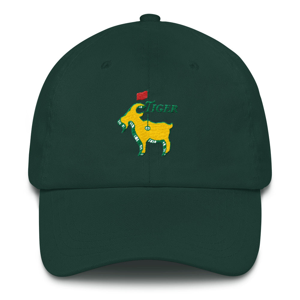 a33ed95ab Tiger Woods Inspired - Good at Golf - The GOAT - Greatest Comeback -  Masters Golf Caddy Slouch Hat -