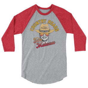 Country Roads Take Mahomes Patrick Mahomes Kansas City Chiefs Inspired Unisex Raglan Shirt - ATX HUMOR