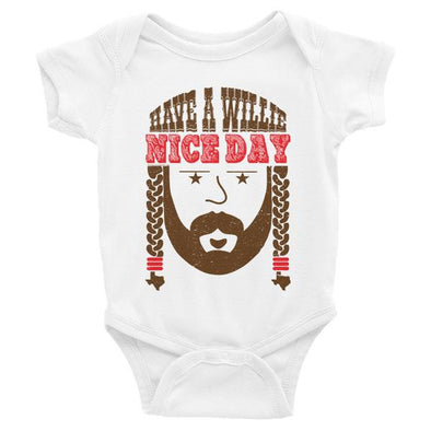 Have A Willie Nice Day Throwback Baby Bodysuit - ATX HUMOR