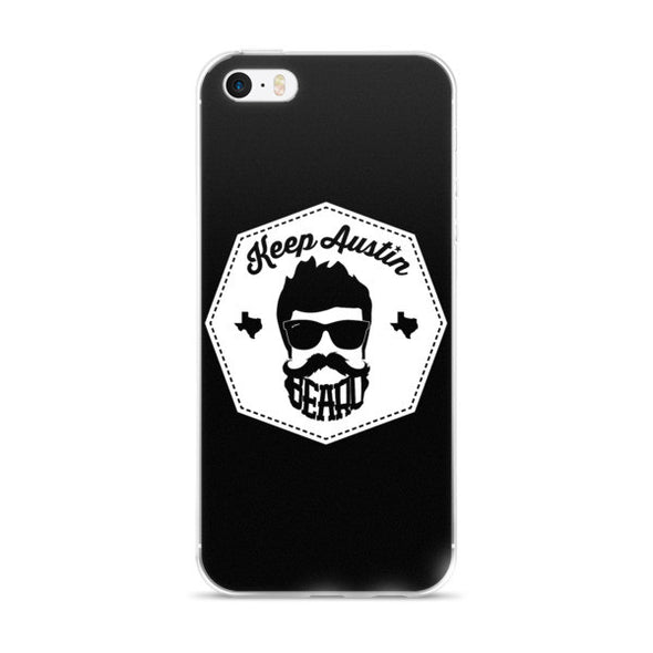 Keep Austin Beard iPhone Case - ATX HUMOR