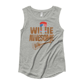 Willie Awesome USA Womens Cap Sleeve T-Shirt - ATX HUMOR