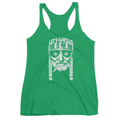 Let's Get Willie High 420 Womens Racerback Tank - ATX HUMOR