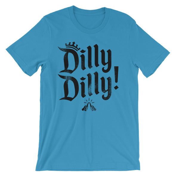 Dilly Dilly Crown A True Friend of The Crown Bud Light Inspired (Black Print) Unisex T-Shirt - ATX HUMOR