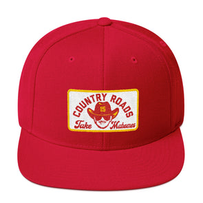 Country Roads Take Mahomes - Patrick Mahomes Kansas City Chiefs Inspired Snapback Hat - ATX HUMOR