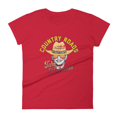 Country Roads Take Mahomes - Patrick Mahomes Kansas City Chiefs Inspired - Women's T-Shirt - ATX HUMOR