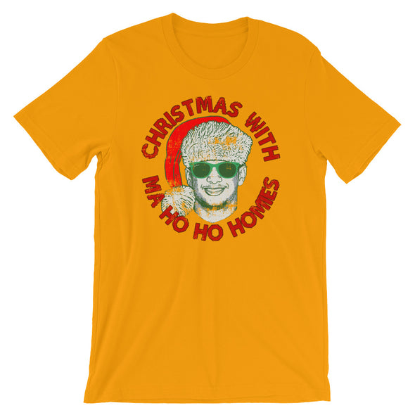 Christmas With Ma Ho Ho Homies - Patrick Mahomes Chiefs Ugly Sweater Inspired - Unisex T-Shirt - ATX HUMOR